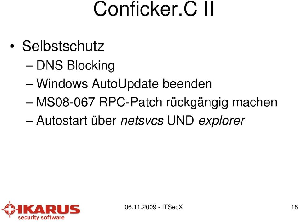 AutoUpdate beenden MS08-067 RPC-Patch