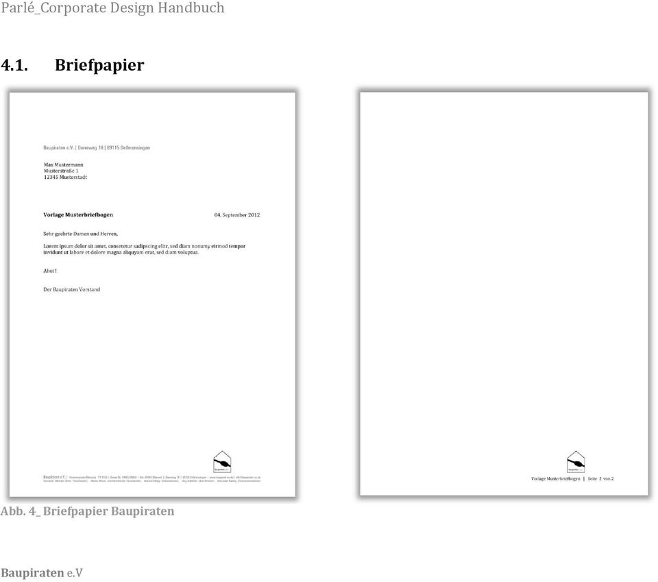 Briefpapier Abb.