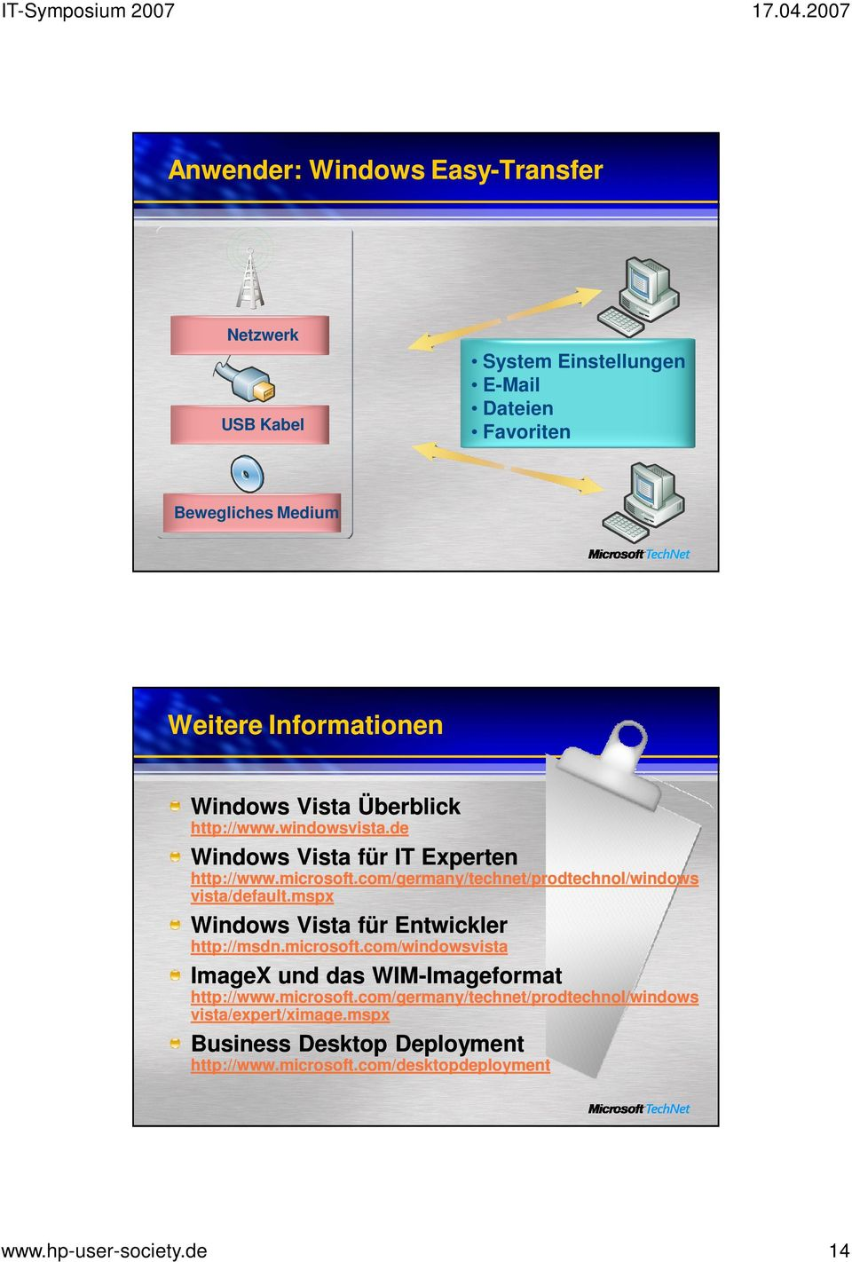 com/germany/technet/prodtechnol/windows vista/default.mspx Windows Vista für Entwickler http://msdn.microsoft.