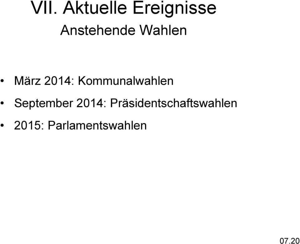Kommunalwahlen September 2014: