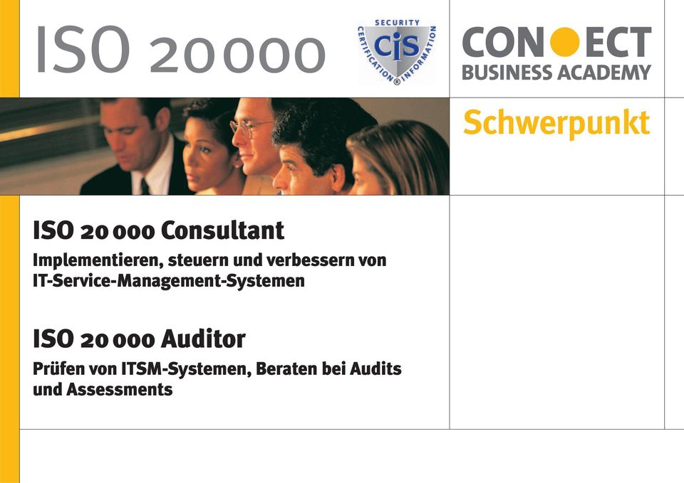 IT-Service-Management-Systemen ISO 20 000 Auditor