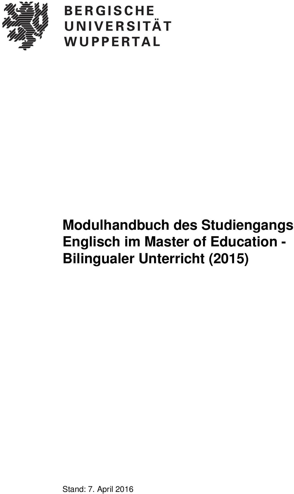 im Master of Education