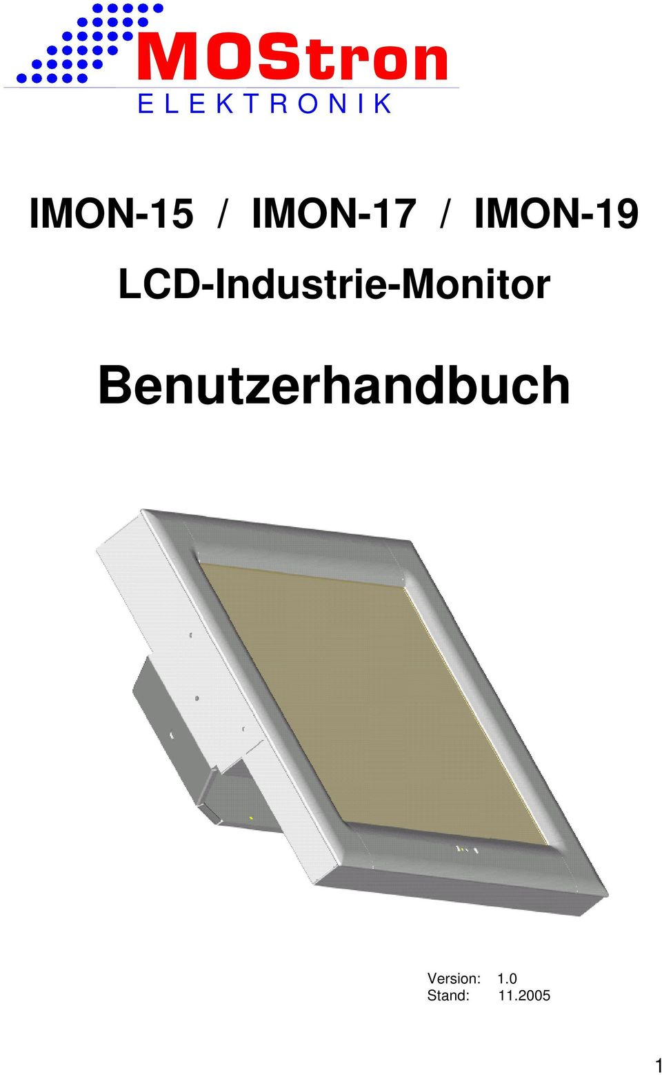 LCD-Industrie-Monitor