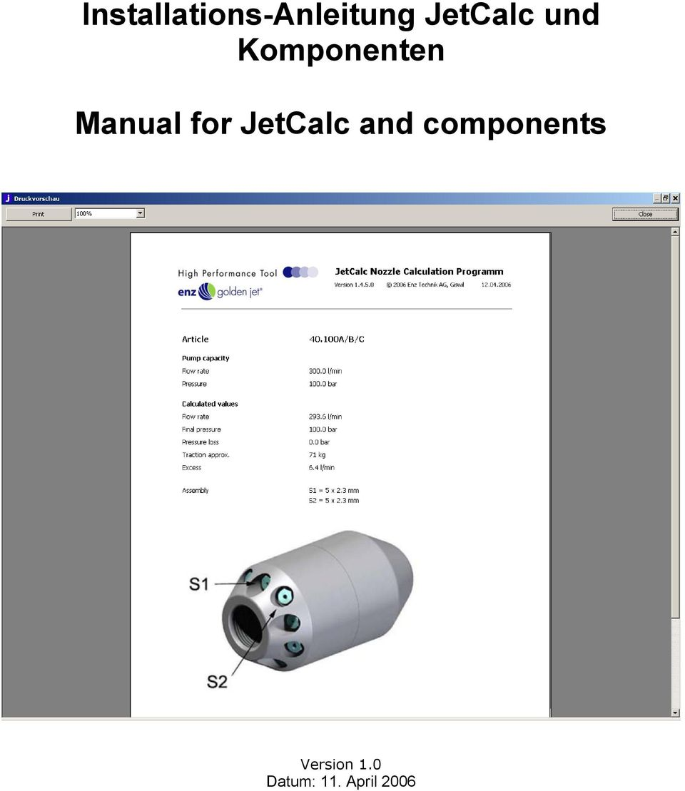 Manual for JetCalc and
