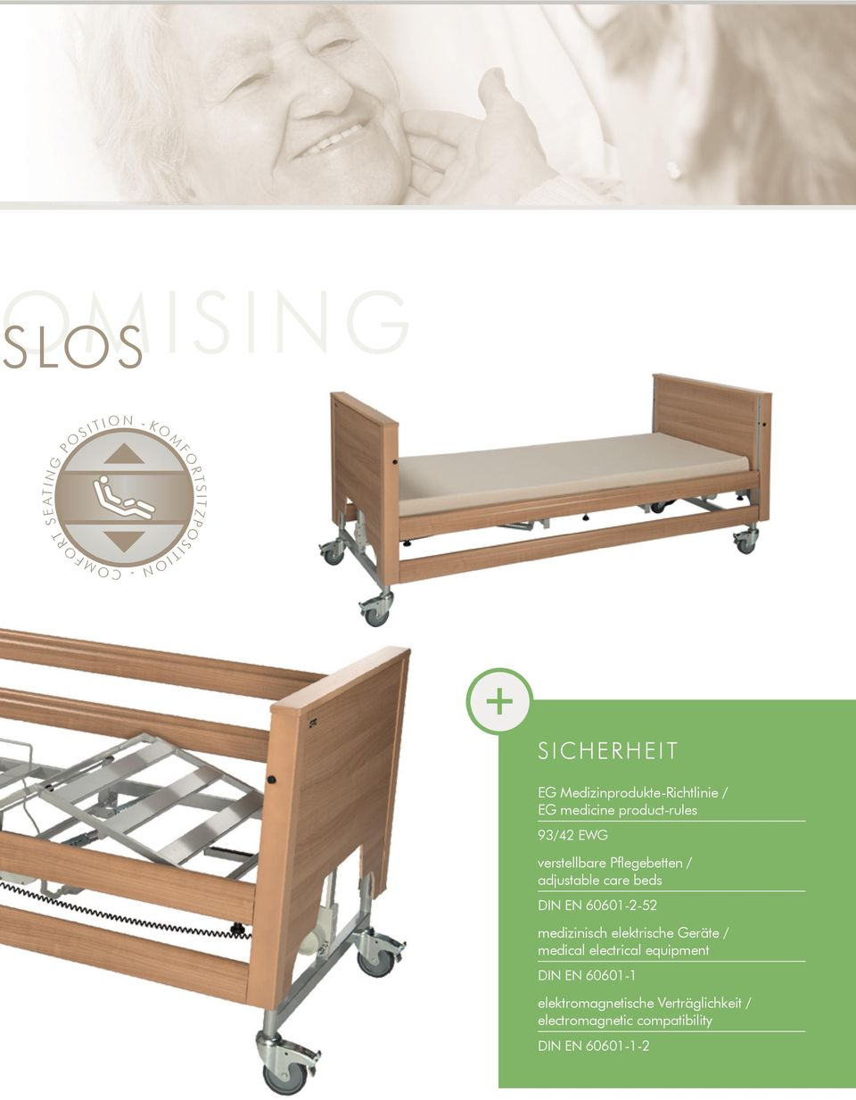 adjustable care beds DIN EN 60601252 medizinisch elektrische Geräte / medical electrical