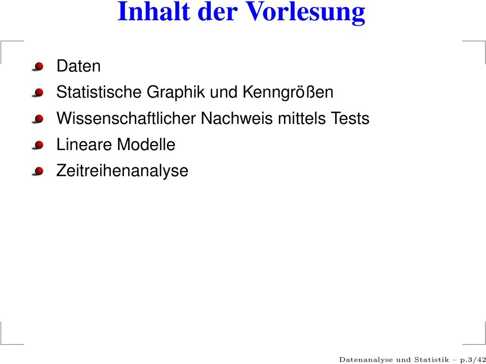 Nachweis mittels Tests Lineare Modelle