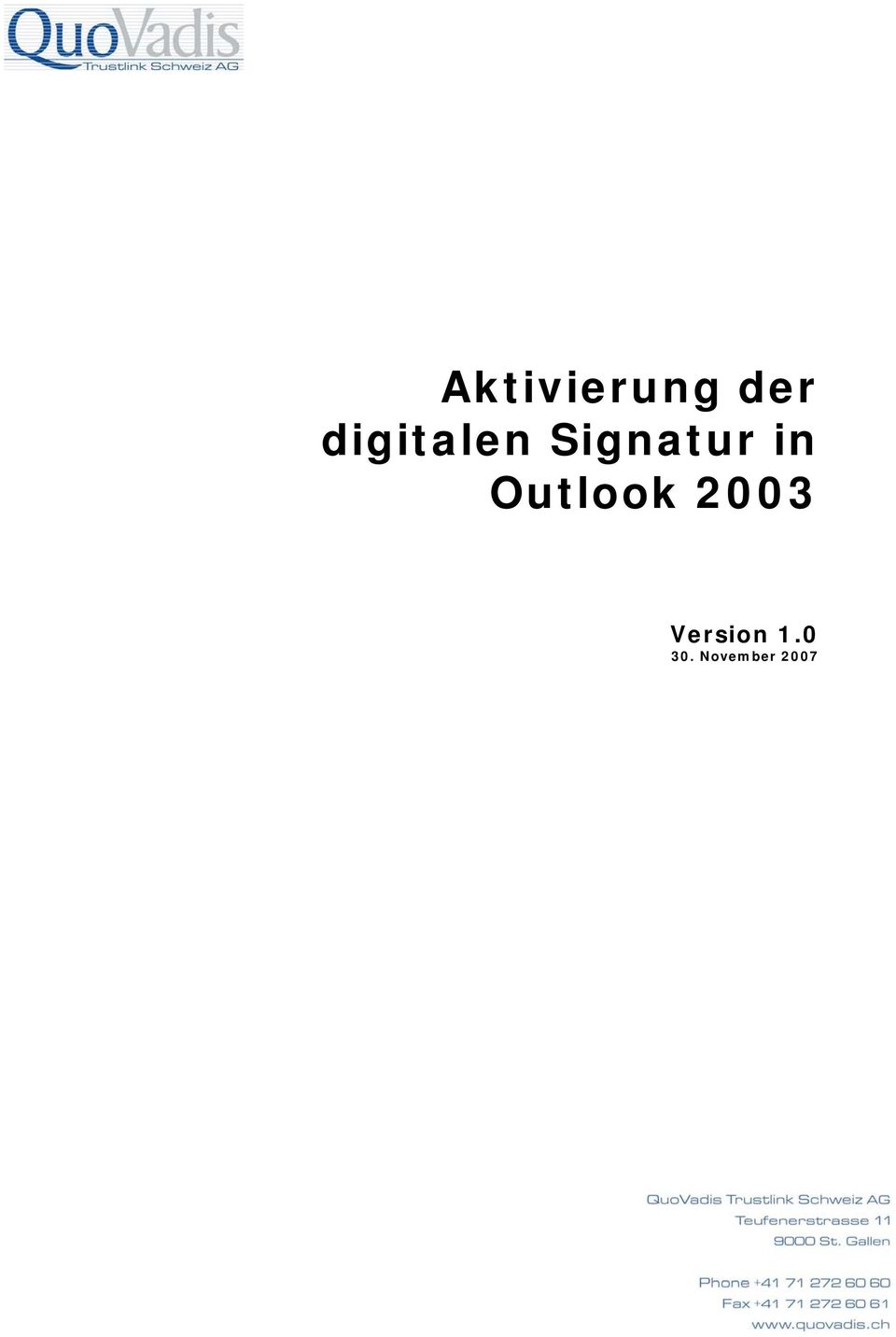 in Outlook 2003