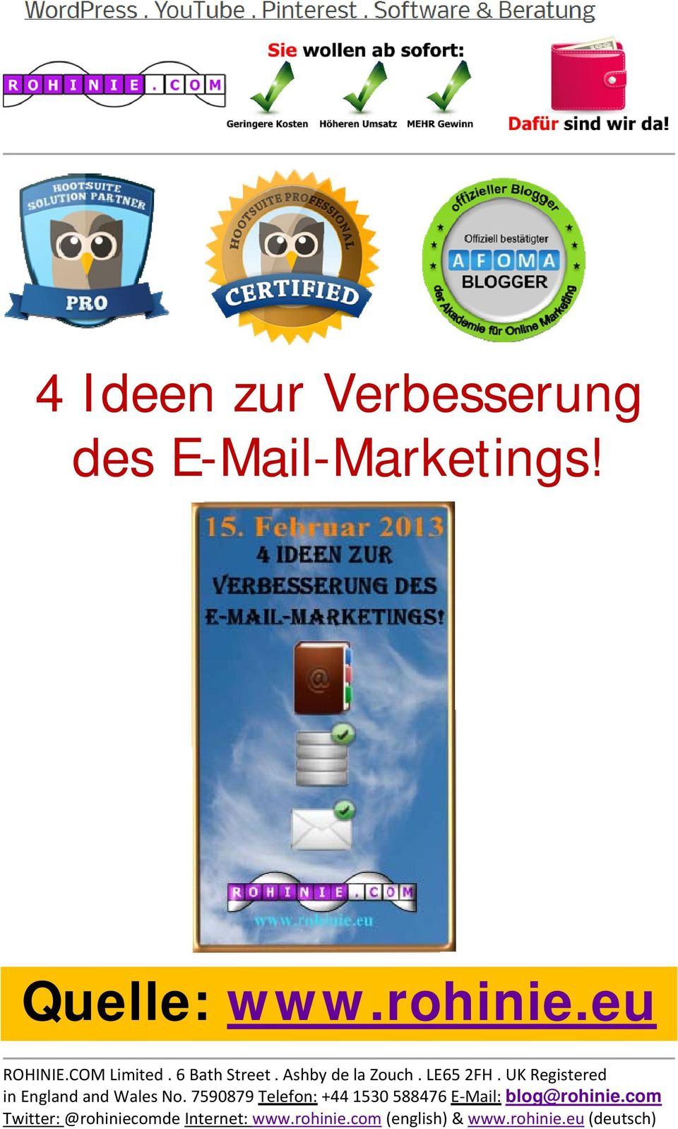 E-Mail-Marketings!