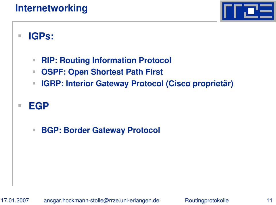 Path First IGRP: Interior Gateway Protocol