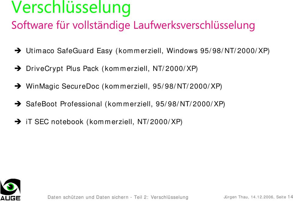 (kommerziell, 95/98/NT/2000/XP) SafeBoot Professional (kommerziell, 95/98/NT/2000/XP) it SEC notebook