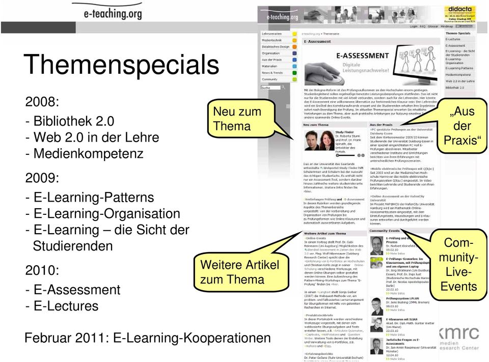 E-Learning-Organisation - E-Learning die Sicht der Studierenden 2010: -