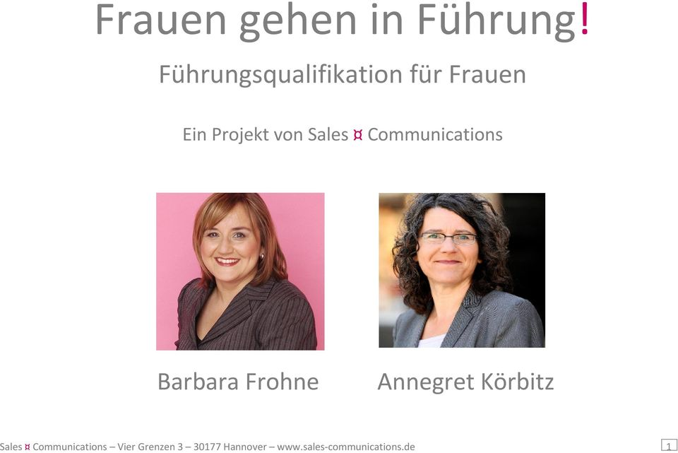 Annegret Körbitz Sales Communications Vier
