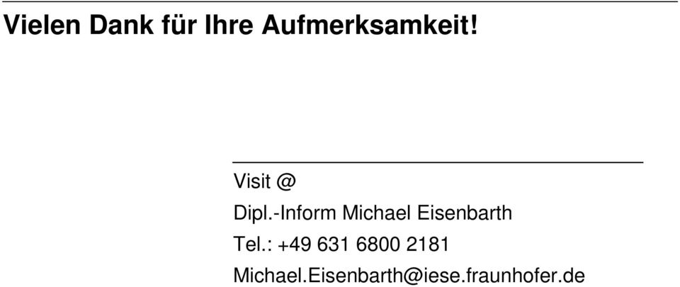 -Inform Michael Eisenbarth Tel.