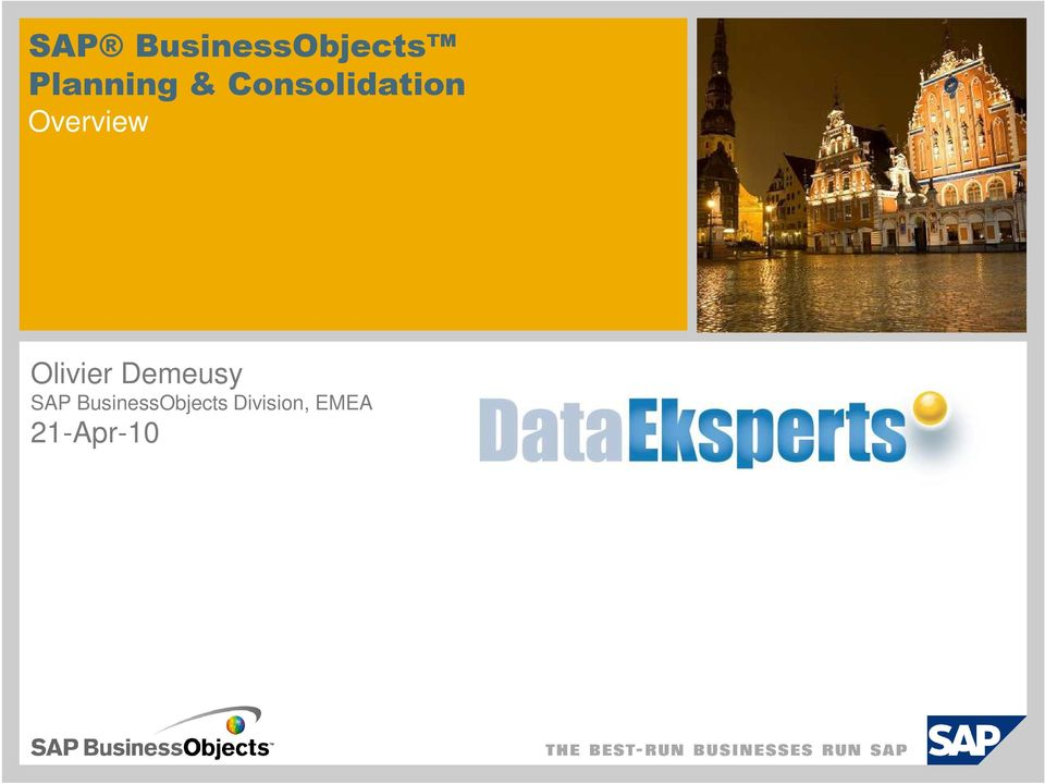 Demeusy SAP BusinessObjects Division,