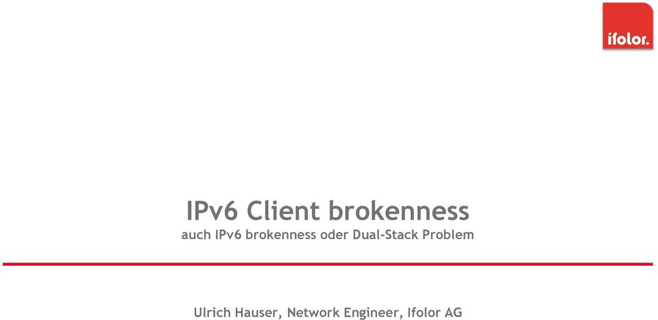 Dual-Stack Problem Ulrich