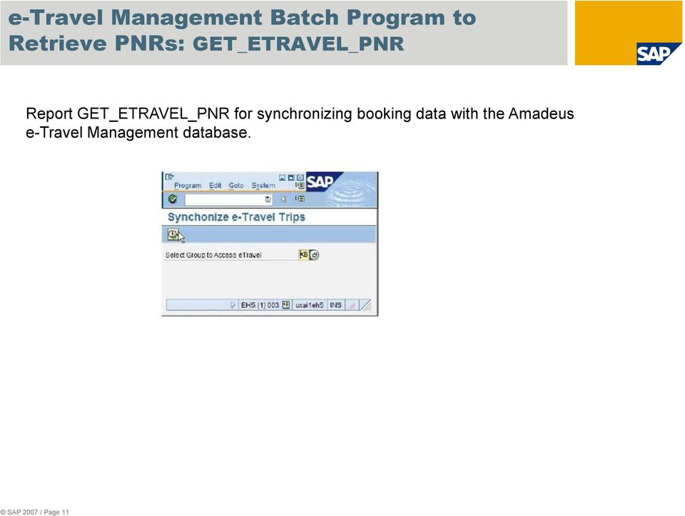 for synchronizing booking data with the