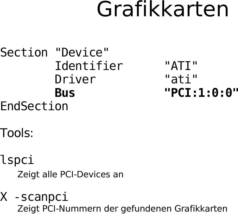 Tools: lspci Zeigt alle PCI-Devices an X
