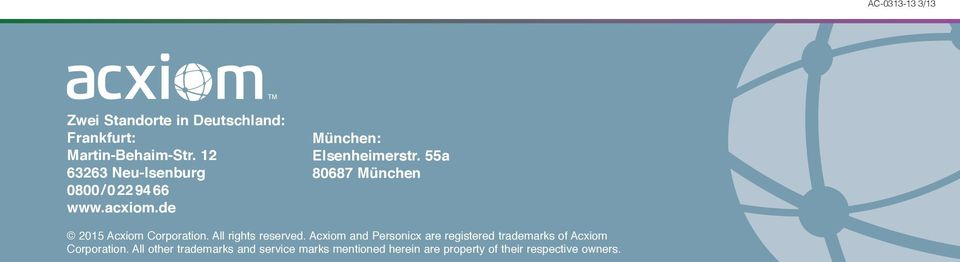 55a 80687 München 2015 Acxiom Corporation. All rights reserved.