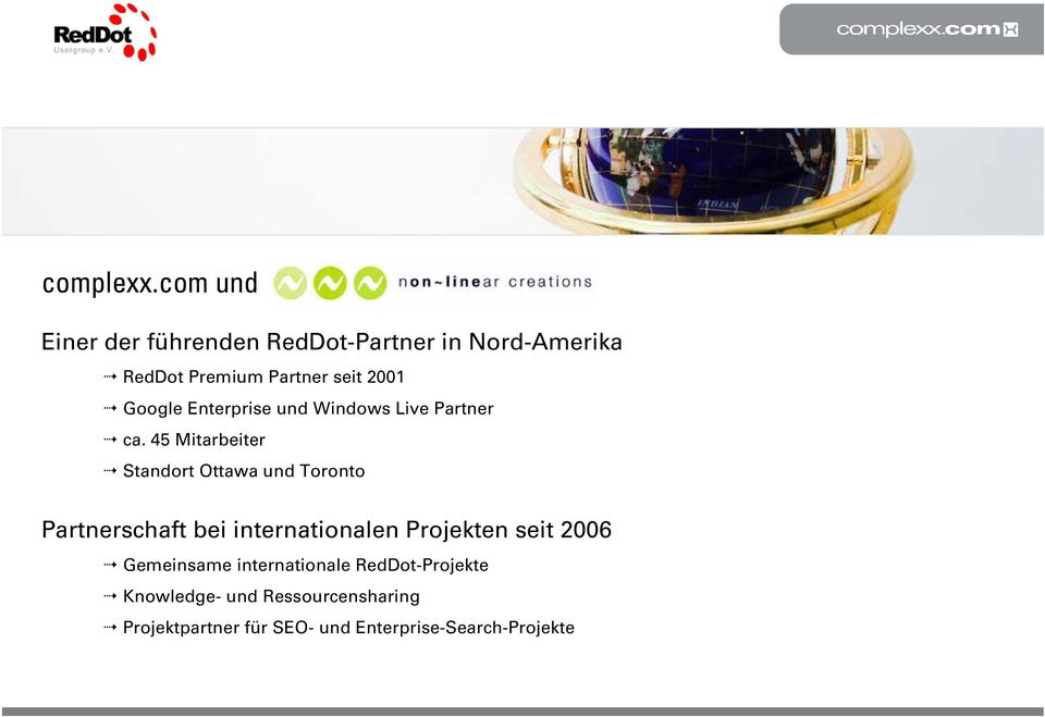 Google Enterprise und Windows Live Partner ca.