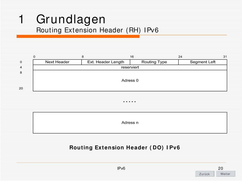 IPv6 Routing Extension