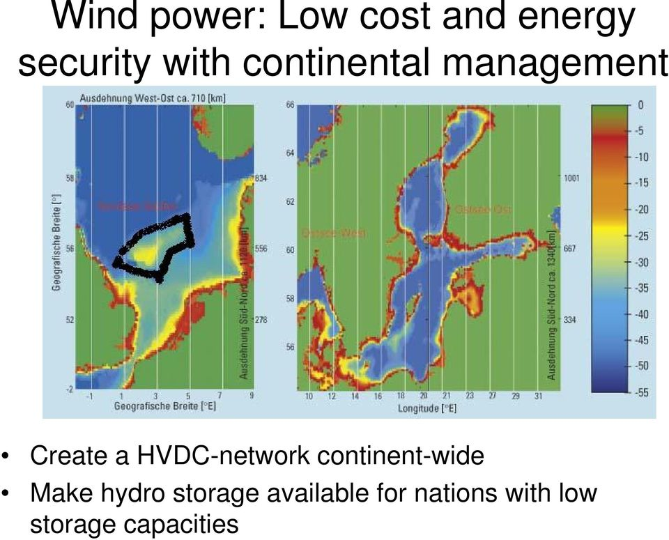 HVDC-network continent-wide Make hydro