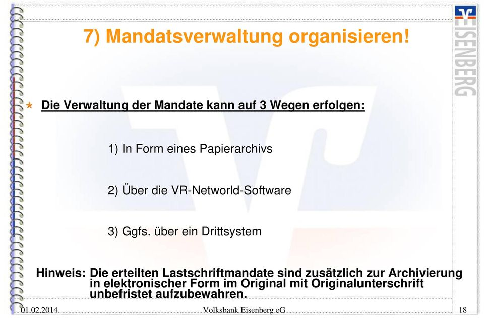 die VR-Networld-Software 3) Ggfs.