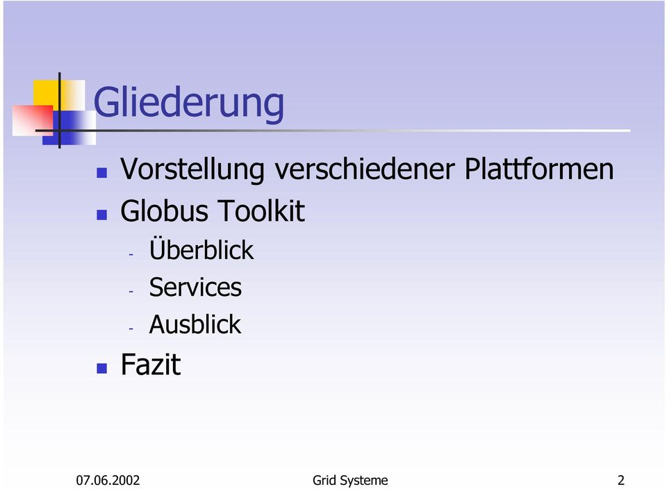 Toolkit - Überblick - Services -