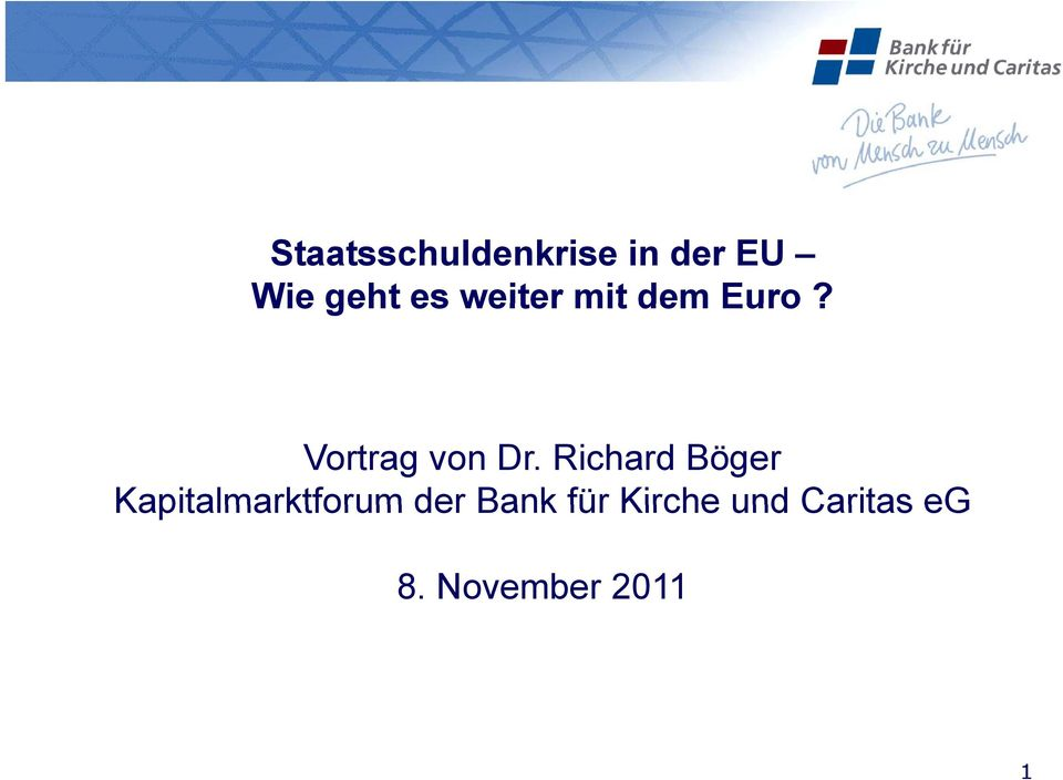 Richard Böger Kapitalmarktforum der Bank