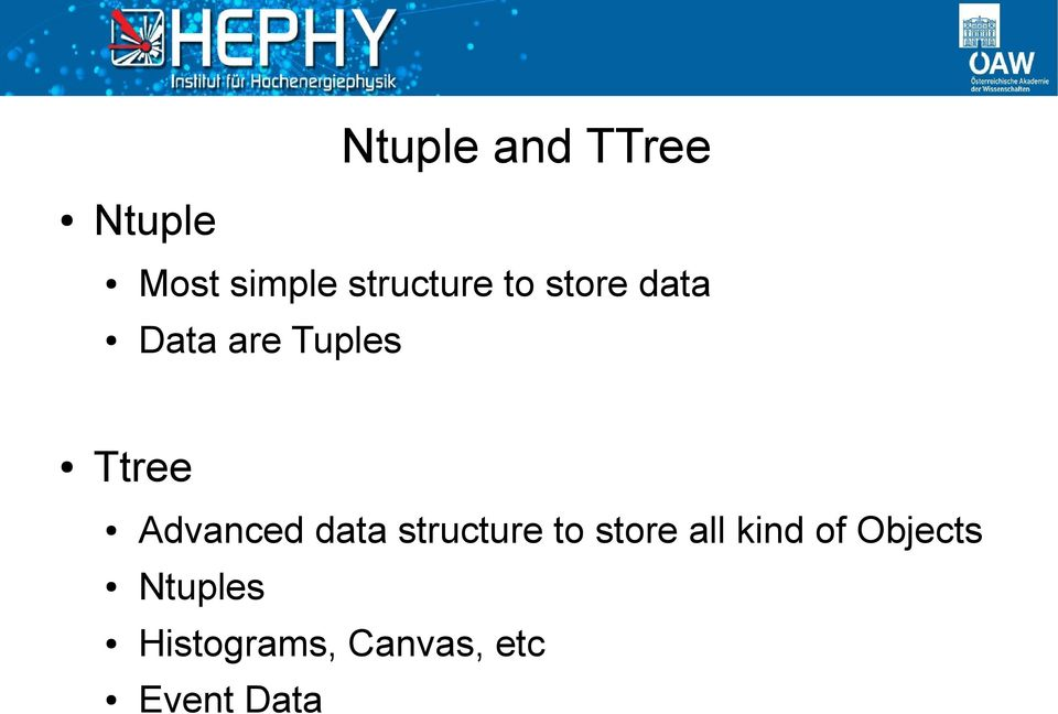 Ttree Advanced data structure to store all