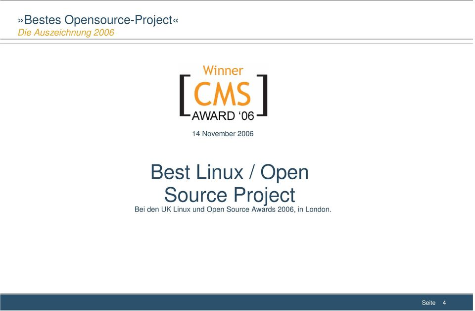 Linux / Open Source Project Bei den UK