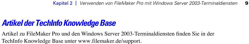 Artikel zu FileMaker Pro und den Windows Server