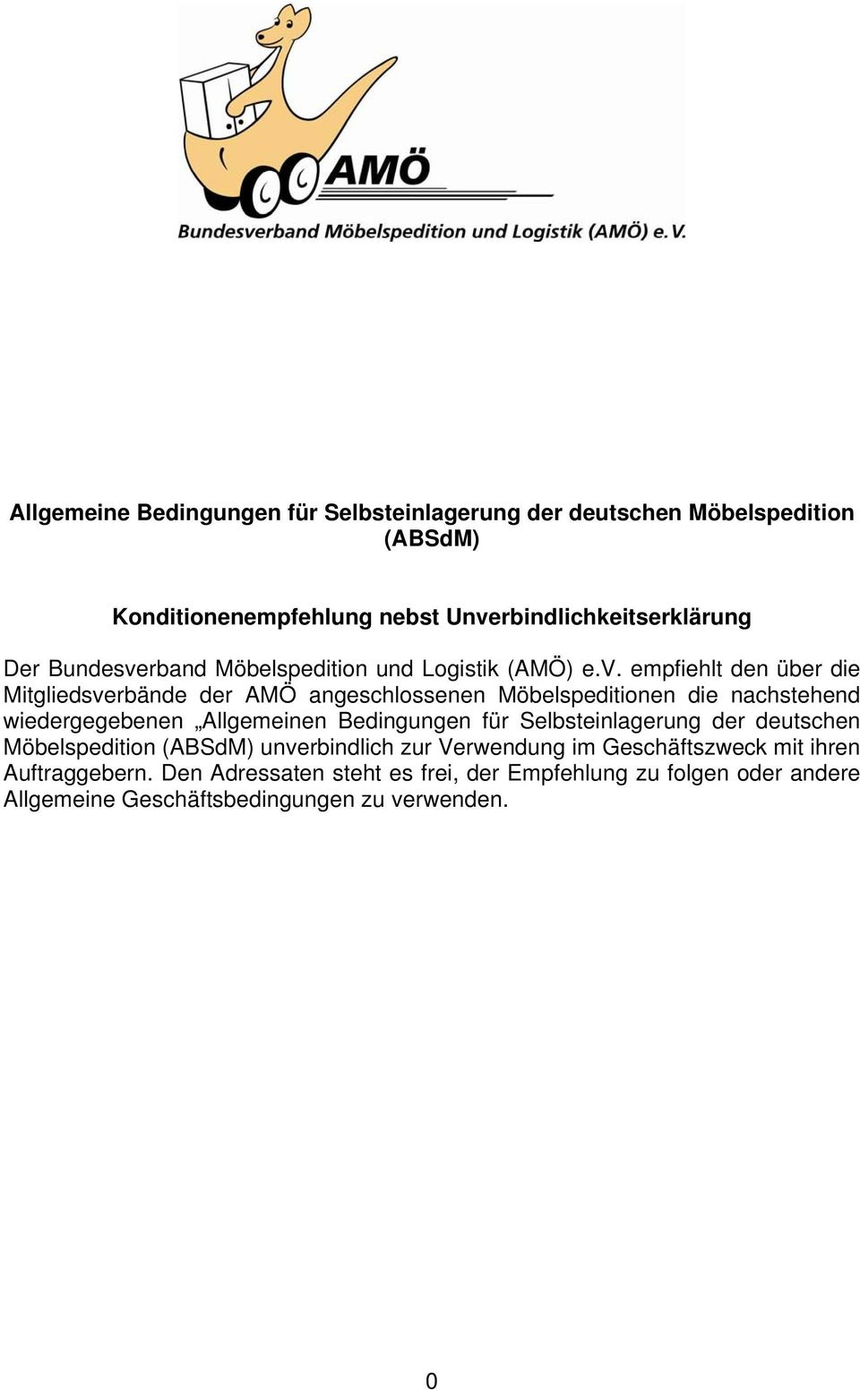 rband Möbelspedition und Logistik (AMÖ) e.v.