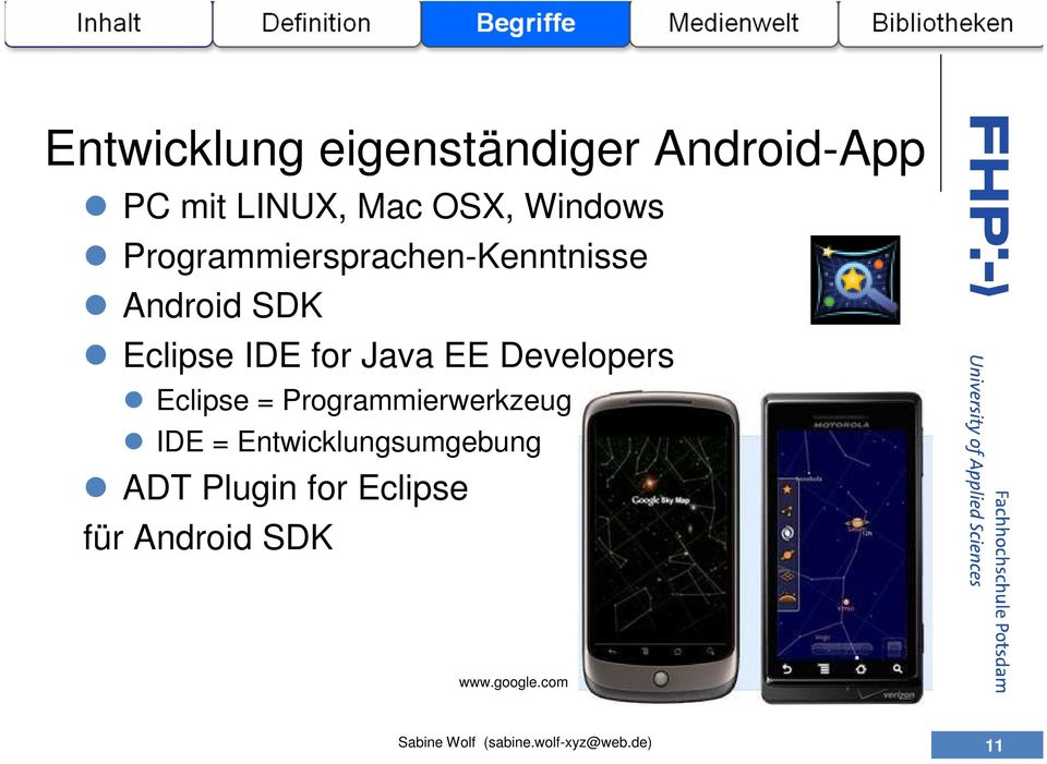 for Java EE Developers Eclipse = Programmierwerkzeug IDE =