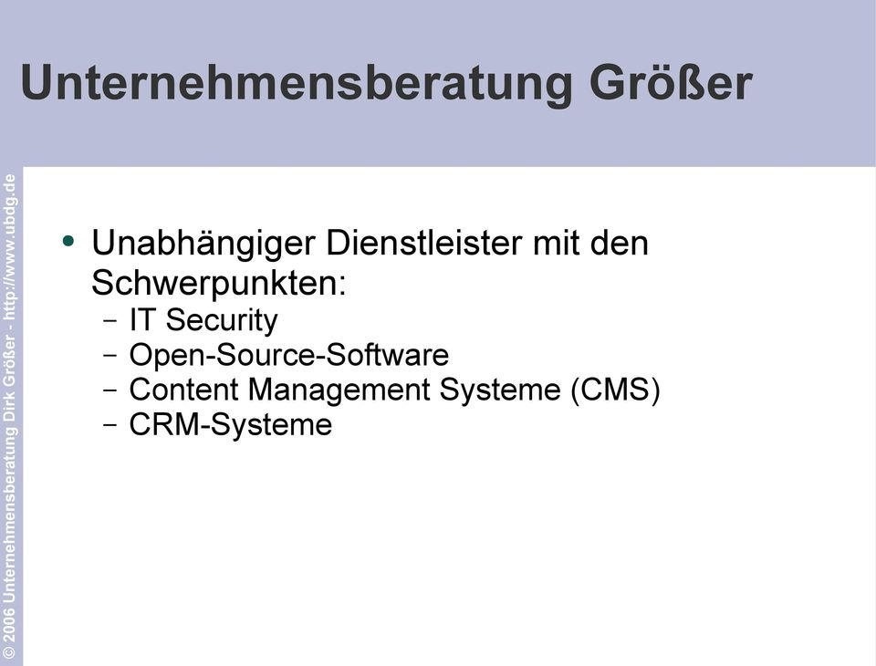 Schwerpunkten: IT Security