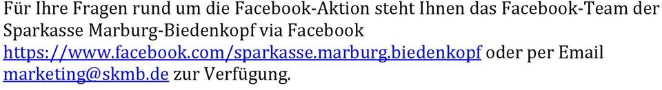 Facebook https://www.facebook.com/sparkasse.marburg.