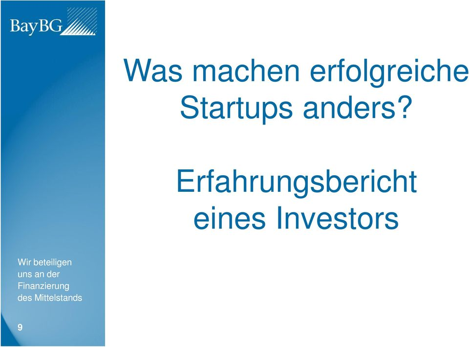 Startups anders?