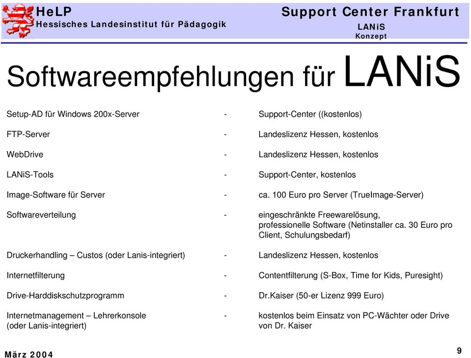 100 Euro pro Server (TrueImage-Server) Softwareverteilung - eingeschränkte Freewarelösung, professionelle Software (Netinstaller ca.