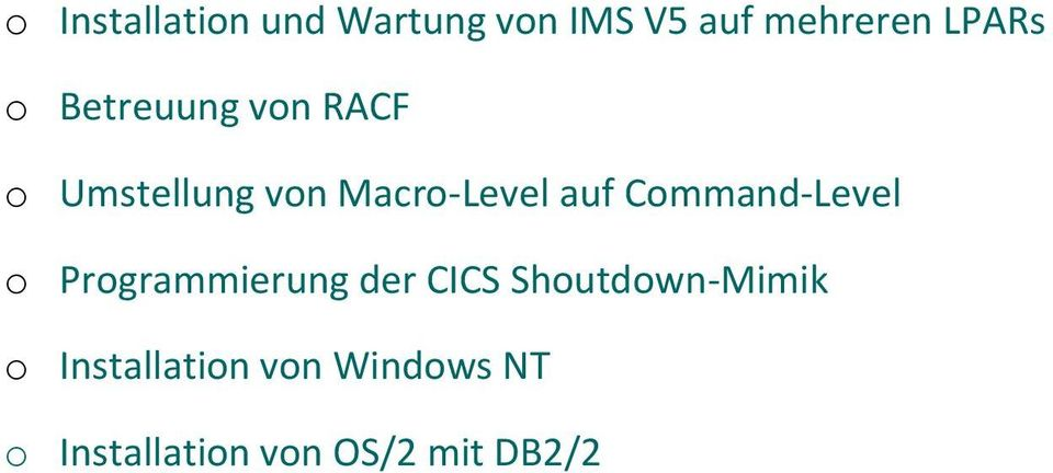 Command-Level o Programmierung der CICS Shoutdown-Mimik o