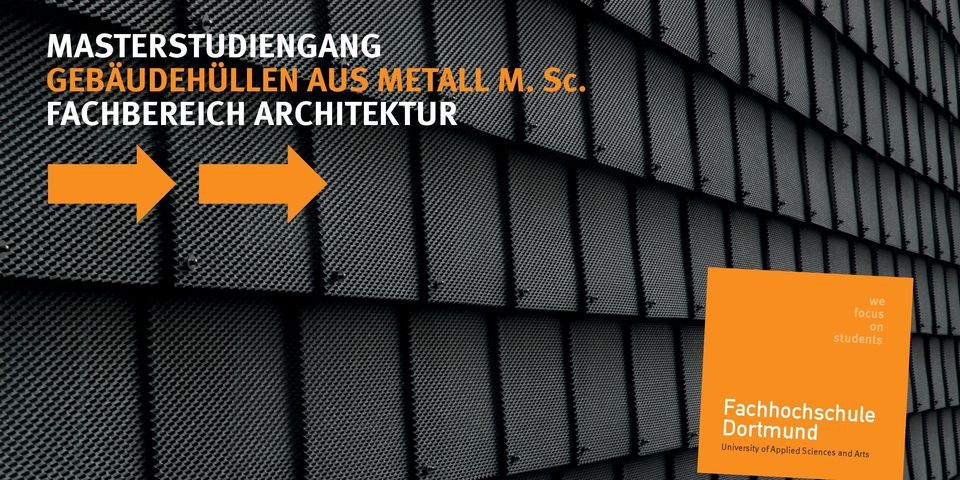 FACHBEREICH ARCHITEKTUR we focus on
