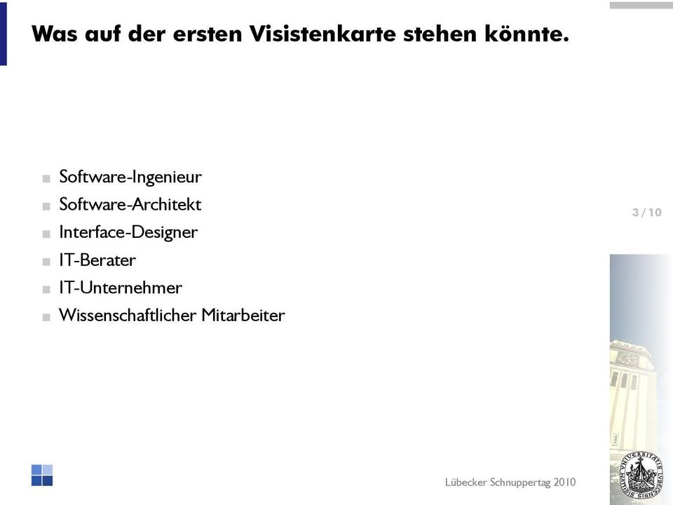 Software-Ingenieur Software-Architekt