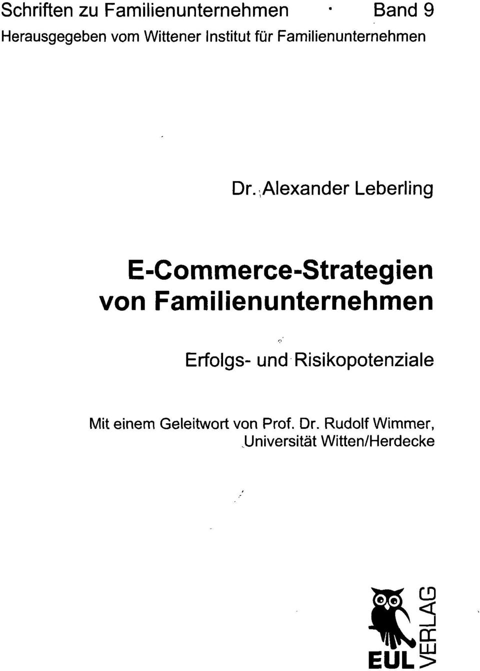 Alexander Leberling E-Commerce-Strategien von Familienunternehmen