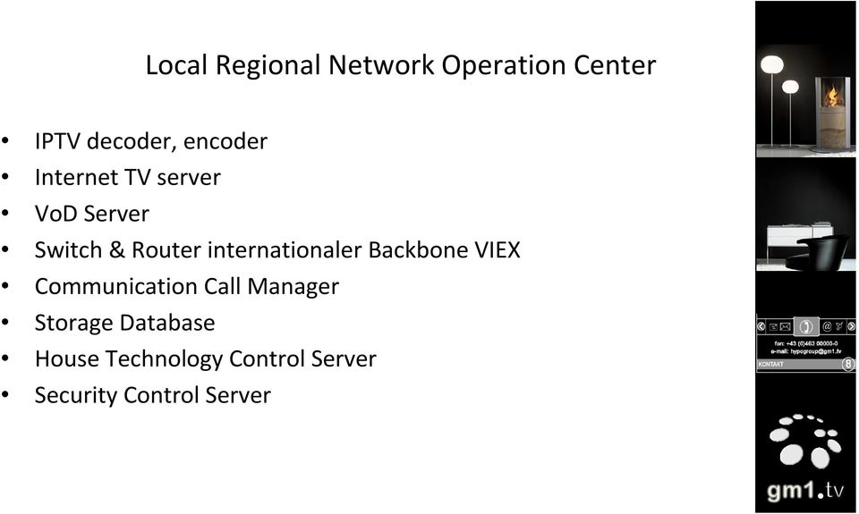 internationaler Backbone VIEX Communication Call Manager