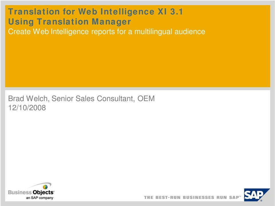 Intelligence reports for a multilingual