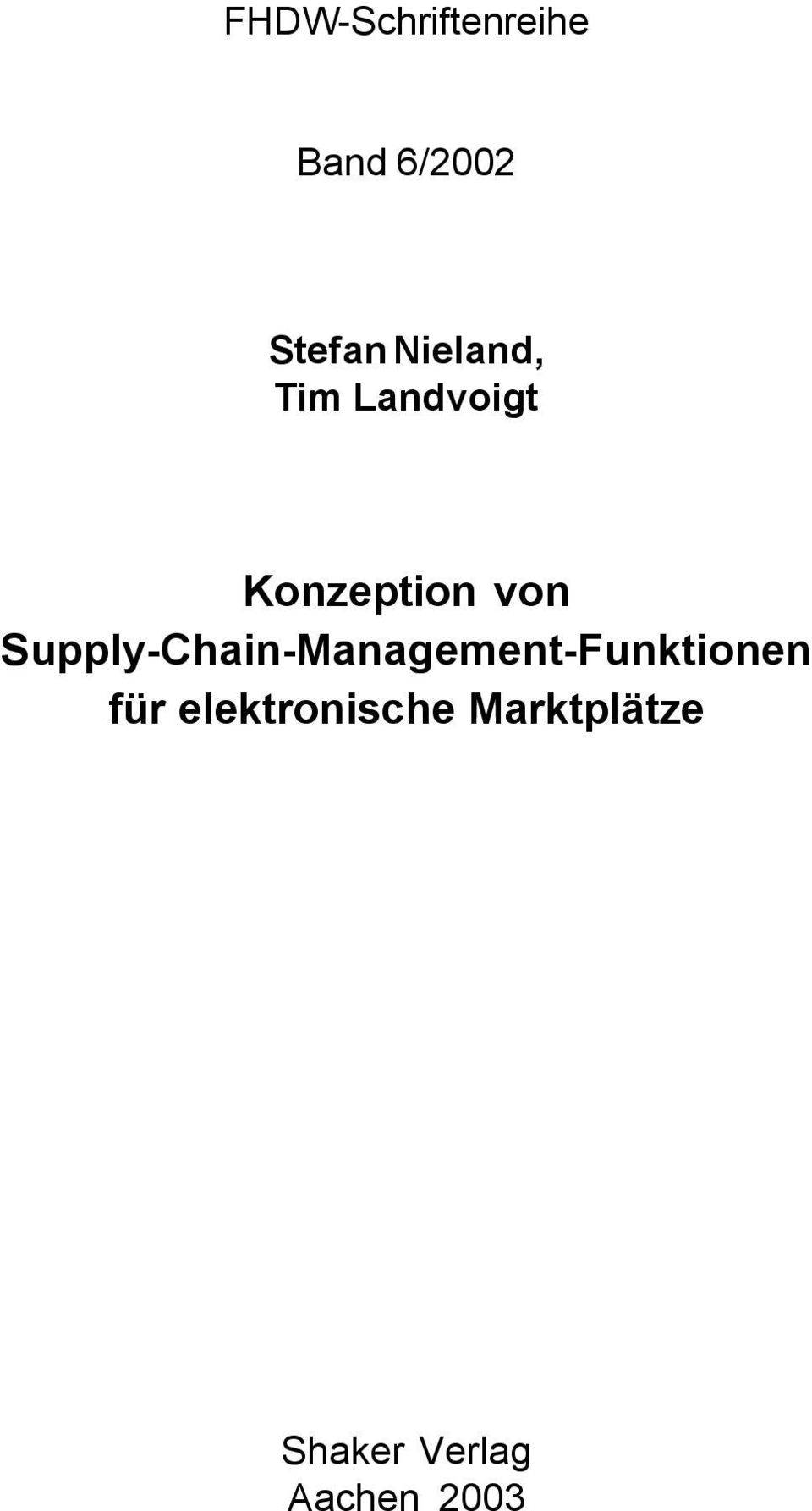 Supply-Chain-Management-Funktionen für