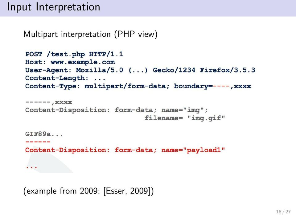 (PHP view) (example from