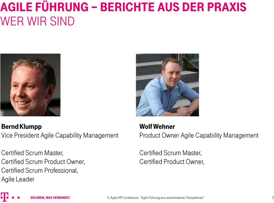Agile Leader Wolf Wehner Product Owner Agile Capability Management Certified Scrum Master,