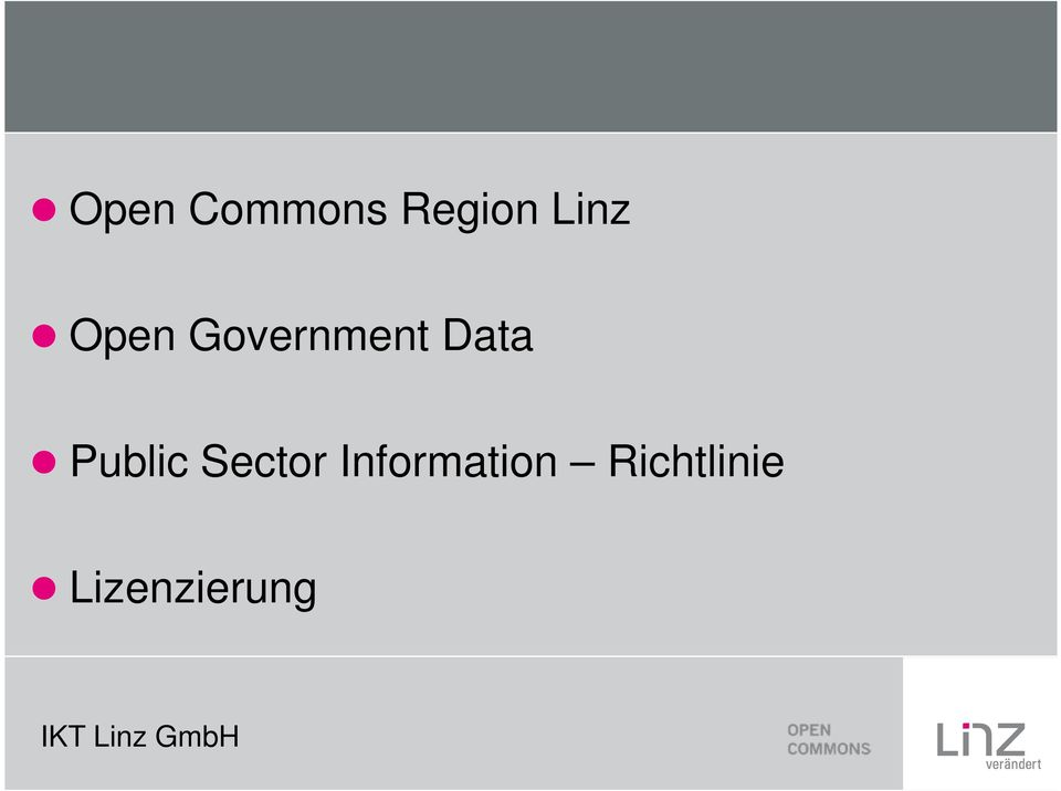 Data Public Sector