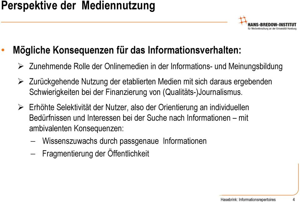 (Qualitäts-)Journalismus.