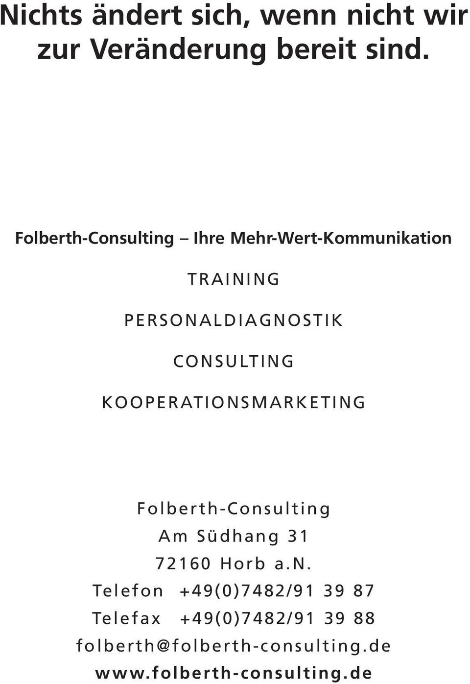 CONSULTING KOOPERATIONSMARKETING Folberth-Cons