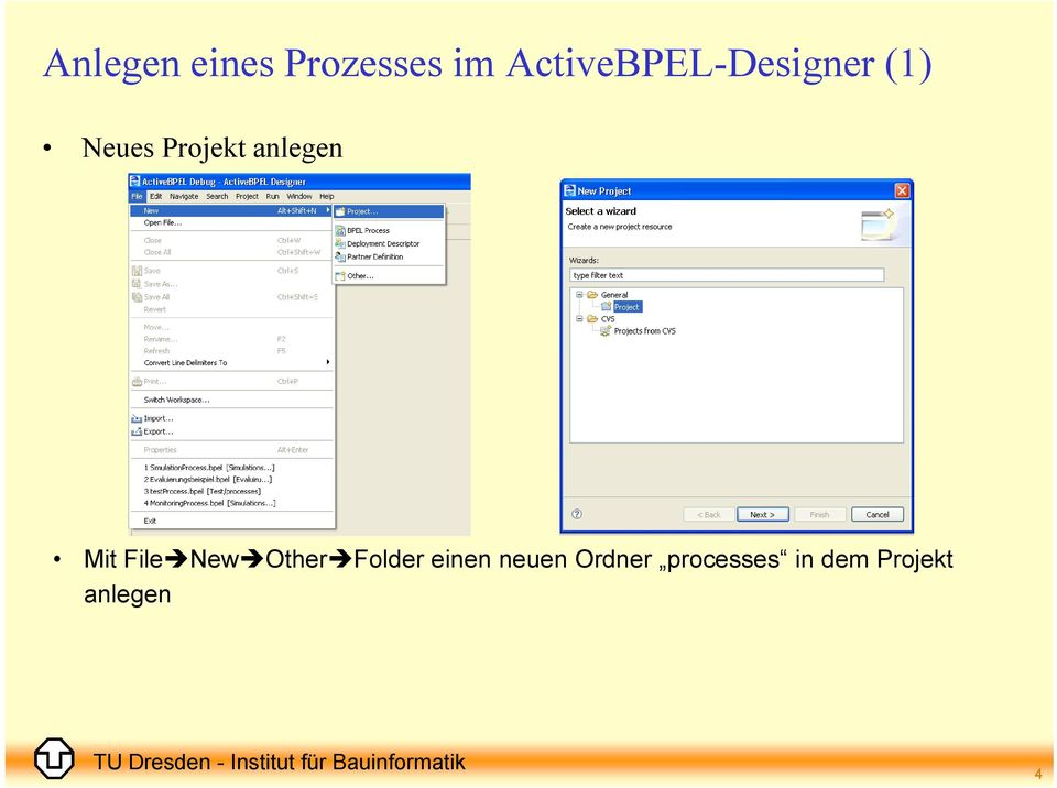 anlegen Mit File New Other Folder